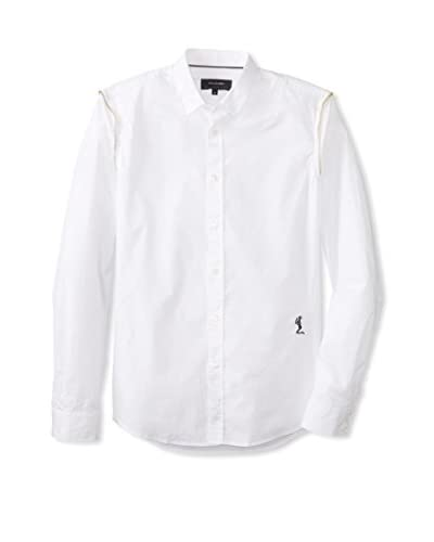 Religion Men's Spread Collar Long Sleeve Shirt with Hidden Placket