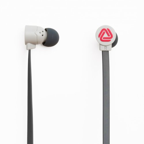 The Pop Blocks Gray/Pink/Gray Earphones With Microphone And Remote