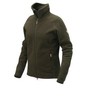 Vallmo Fleece Dark Olive, warme Fleece Jacke für Herren, weiche Herren Freizeitjacke mit hohem Kragen