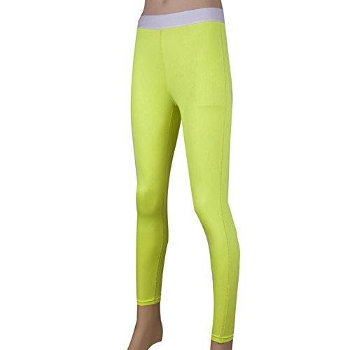 Toptie Women'S Ankle Legging, Running Tights, Yoga Pants Lime-S