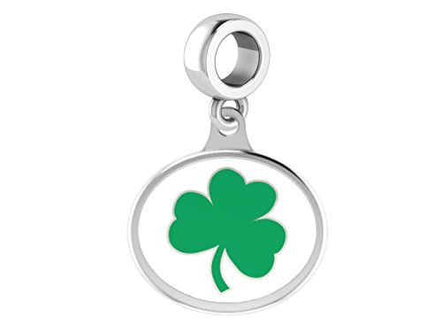University of Notre Dame Fighting Irish Sterling Silver Enamel Drop Bead Charm Fits All European Style Charm Bracelets