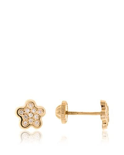 Gold & Diamonds Pendientes Flower