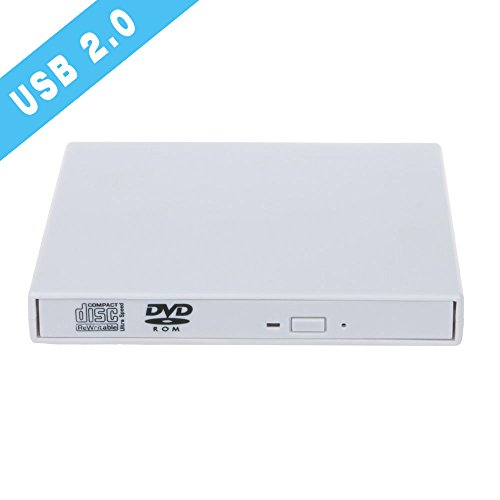 External Portable DVD Combo CD-RW Burner Drive with USB 2.0 Cable For Windows 98/SE/ME/2000/XP/Vista/Win 7/Win 8/Win 10 Notebook PC Desktop,Plug and Play,No other Driver required,White (CD-RW) (Imac Cleaning Software compare prices)