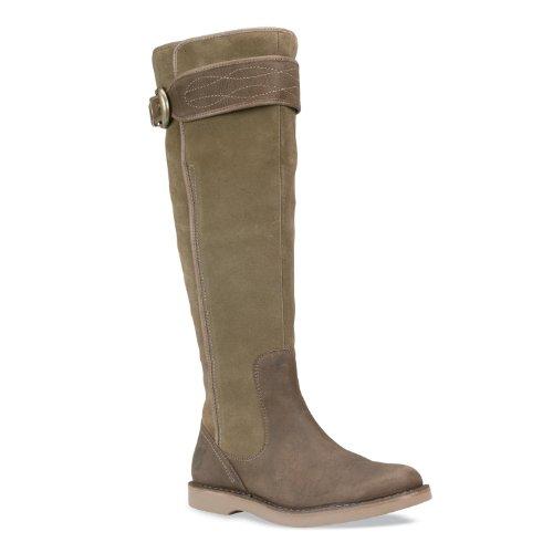 Timberland Women's Cabot Tall Zip Taupe Heels 20699 4 UK