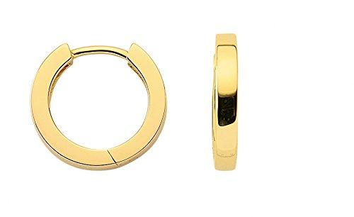 Damen Schmuck 1 Paar Gold Ohrringe / Creolen aus 8 Karat ( 333 ) Gelb Gold ( 2,4 x 15,2 Ø mm ) als Weihnachtsgeschenk kaufen