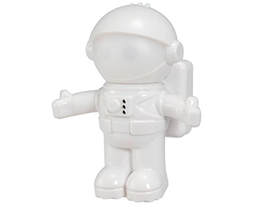 Creative Astronaut Sensor Sound & Light-Sensing Controlled Night Light Led Lamp (White)