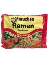 Maruchan Ramen Beef Flavor Noodle Soup 3 oz (Pack of 24)