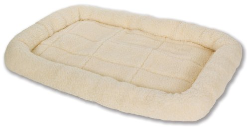 Little Giant Pet Lodge Fleece Pet Bed, 29 Inch Medium Size, Cream front-86198