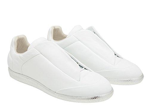 Sneakers Maison Margiela uomo in pelle bianco - Codice modello: S37WS0263 SX8966 102 - Taglia: 41.5 EU