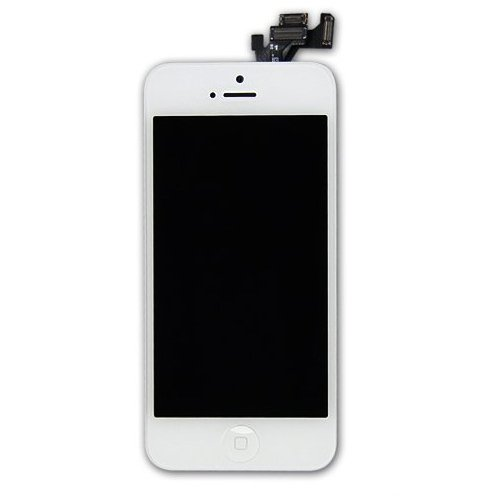 Orangehongkong Pre-Assembled Replacement Touch Screen Digitizer + Lcd Display & Lcd Shield Plate + Spares Parts (Front Camera + Home Button + Earpiece Speaker)+Professinal Tools For Iphone 5 (White)