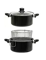 Best Home 3 Piece Nonstick Deep Fryer Set by