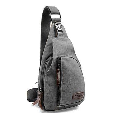 Zcl Leisure Canvas Gray Waist Bag
