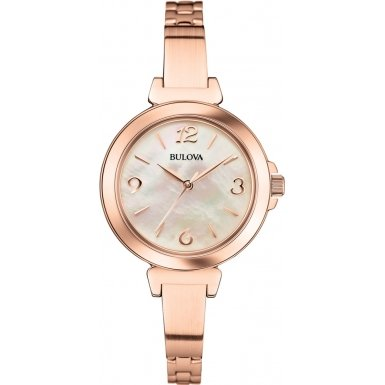 Bulova 97L137 Ladies Dress Rose Gold Steel Bracelet Watch