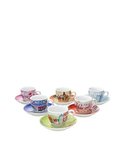 Tognana Set Tazza Caffè Con Piattino 6 Pz. Iris City