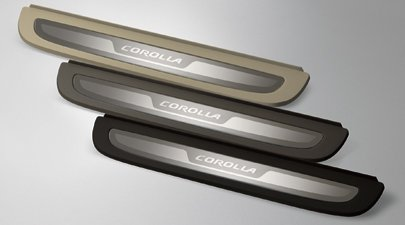 Genuine Toyota Accessories PT922-02080-04 Door Sill Enhancement for Select Corolla Models