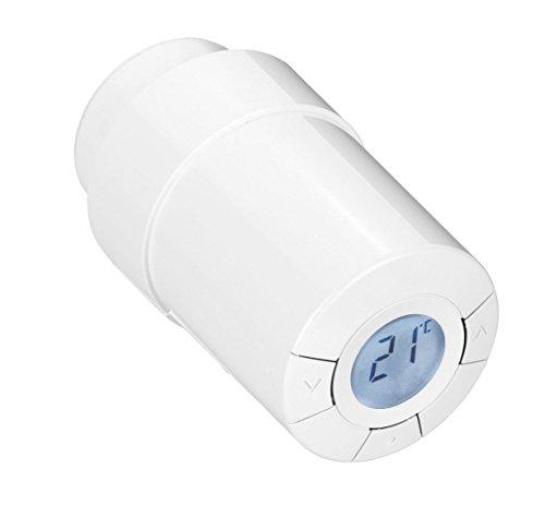 Popp Smart Home Heizkörperthermostat Z-Wave, für 7 verschiedene Wochentage bis zu 9 Zieltemperaturen einstellbar (Setpoints), 1 Stück, POPE010101