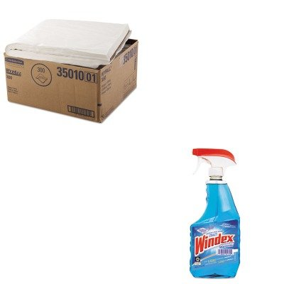 KITDRA90139CTKIM35010 - Value Kit - KIMBERLY CLARK WYPALL X60 Towels (KIM35010) and Windex Ammonia-D Glass Cleaner (DRA90139CT)