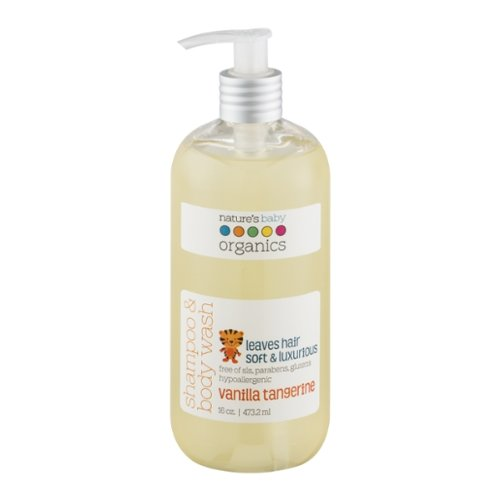 Nature'S Baby Organics Shampoo & Body Wash, Vanilla Tangerine, 16-Ounce Bottles (Pack Of 2)
