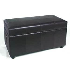 Bench Trunk with Lid Fabric: Black