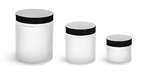 2-oz-clear-frosted-straight-sided-glass-jar-with-black-lid-pack-of-12