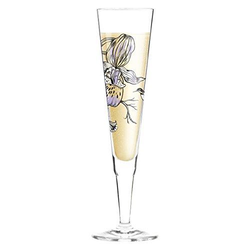 Ritzenhoff 3260002 champus white label design champagne/mousseux, verre avec serviette, olaf hajek printemps 2015