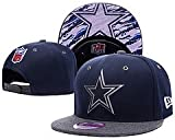 Unisex Team Classic Stretch Fit Cap Dallas Cowboys Team Logo Blue Adjustable Hat