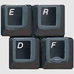 HQRP English US White QWERTY Laminated Non-Transparent Keyboard Stickers with Black Background for All Computers
