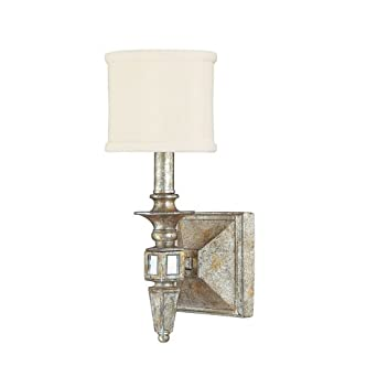 Antique Leaf Wall Sconces : Capital Lighting 8481SG-535 Palazzo - One Light Wall Sconce, Silver and Gold Leaf with Antique ...