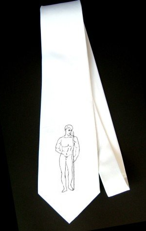 Party Decoration Necktie with man, carved,