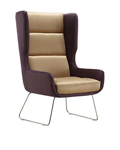 Ceets Arsenal Leisure Chair, Brown/Purple