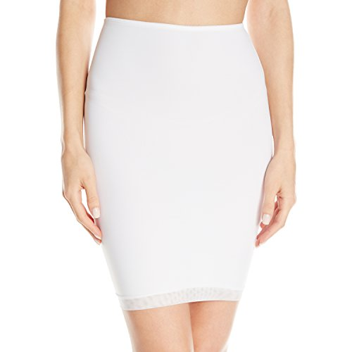 Vassarette Women's Smoothing Half Slip 11490, White Ice-18 inch, Small