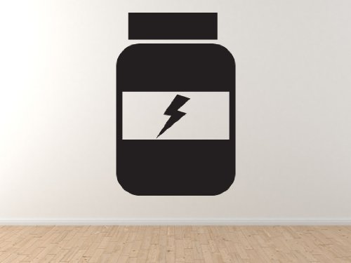 Fitness Gym Art #7   Vitamins Protein Powder Bottle Health   45