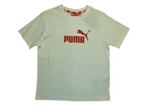 Puma Kinder- T-Shirt Gr. 140 weiß mit rot