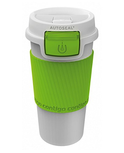 Contigo Morgan Bicchiere Termico In Alluminio, Verde, 0.36 L