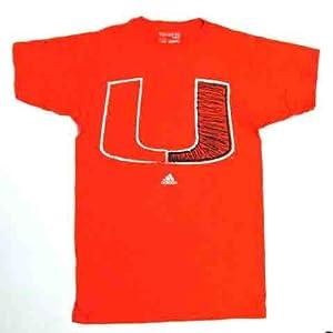 Buy Miami Hurricanes Big Scribble Jolted Logo Orange T-shirt by JAGZ