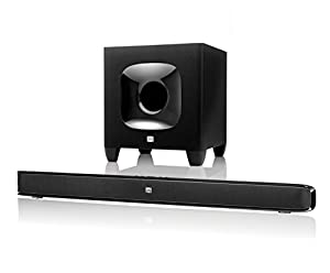 JBL Cinema SB 400 Heimkinosystem 2.1 Leistungsstarkes Soundbar-System mit 2 x 60 Watt Wireless Bluetooth Soundbar und 200 Watt Subwoofer mit HARMAN Display Surround-Technologie - Schwarz