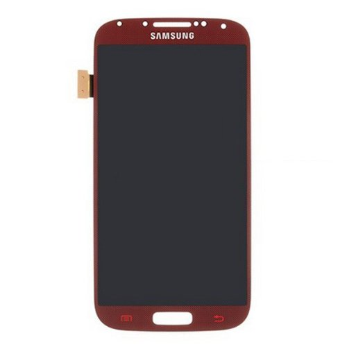Generic Lcd Display With Touch Screen Digitizer Assembly Replacement For Samsung Galaxy S4 I9500 I9505 (Red)
