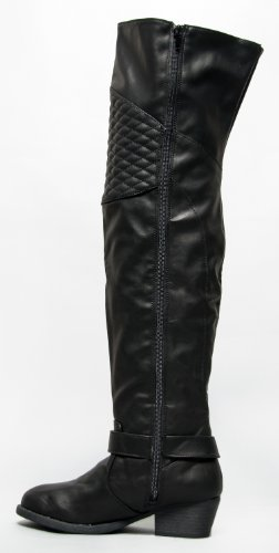 qupid trevor 32 quilted knee pad thigh high the knee