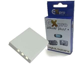 Ex-Pro High Power Plus+ 2 Year Warranty Replacement Lithium Li-on Digital Camera Battery D-LI8 DLI8 for Pentax Optio [See Description for Models]