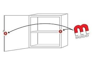 magneasy kindersicherung magnetsicherung f r 5 schr nke k stchen oder schubladen baby. Black Bedroom Furniture Sets. Home Design Ideas