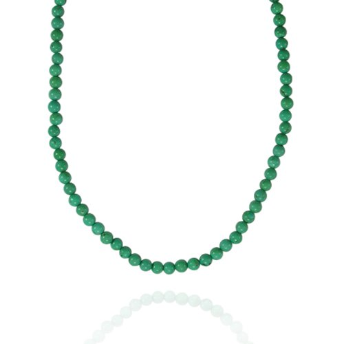 4mm Round Turquoise (China) Bead Necklace, 30+2