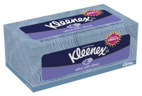 Kleenex Ultra Soft facial tissues stops sneezes in their tracks with our three-layer sneeze shield