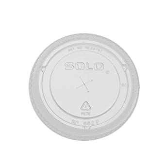 SOLO 662TS-0090 Clear PETE Straw Slot Lid for 12-oz. Plastic Cold Cup (Case of 10)
