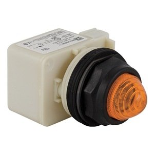 Pilot Light, LED, 24V, 30mm, Plastic, Amber