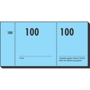 Sigel Nummernblock 105x50mm 1-100 VE=100 Blatt farbig sortiert