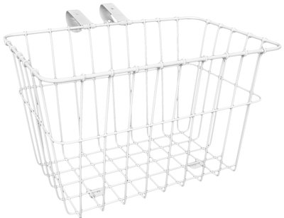 Wald 135 Front Grocery Bicycle Basket (14.5 x 9.5 x 9, White)