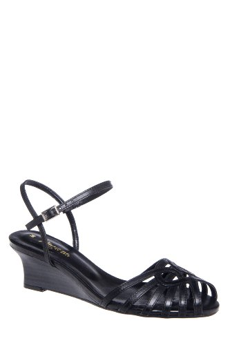 Mariana Hadie Low Wedge Ankle Strap Sandal