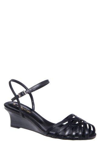 Mariana Hadie Low Wedge Ankle Strap Sandal
