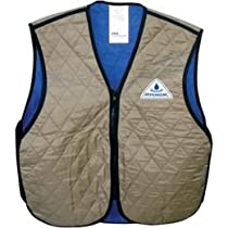 Techniche Evaporative Cooling Vest , Size: 2XL, Distinct Name: Khaki, Gender: Mens/Unisex, Primary Color: Gray 6529KH-2X