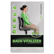 The Back Vitalizer can be used as a back support cushion, but also as a sitting cushion, giving you benefits similar to sitting on an exercise ball.